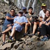 Palisade Falls y familia